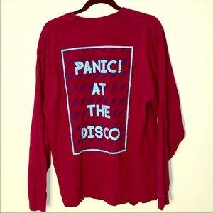 maroon panic at the disco long sleeve t-shirt
